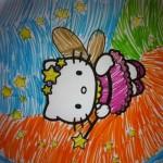 Kitty pintado pela Maria 30 Outubro de 2012